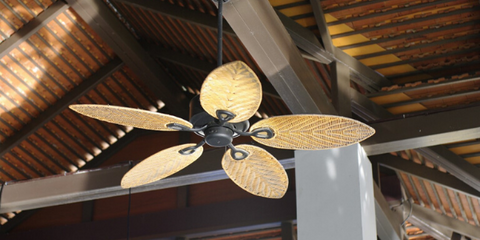 Use outdoor fans to deter insects