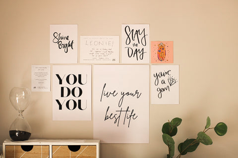 Staying motivated with prints from my favourite people