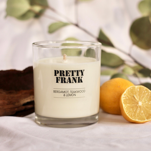 Bergamot, Teakwood and Lemon Scented Candle