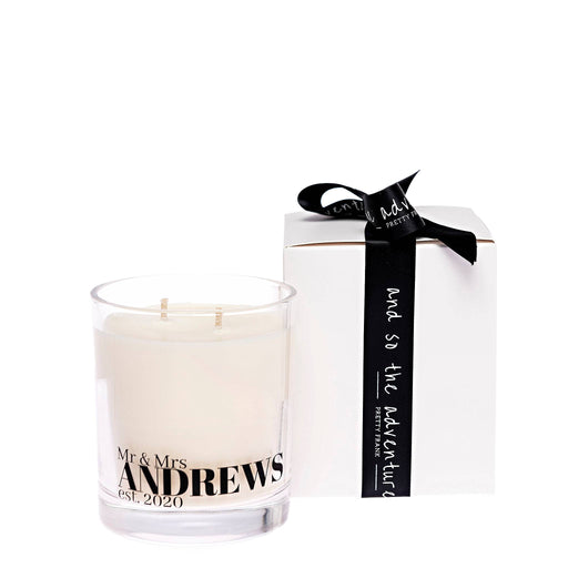 Our New Name Double Wick Candle Gift Box