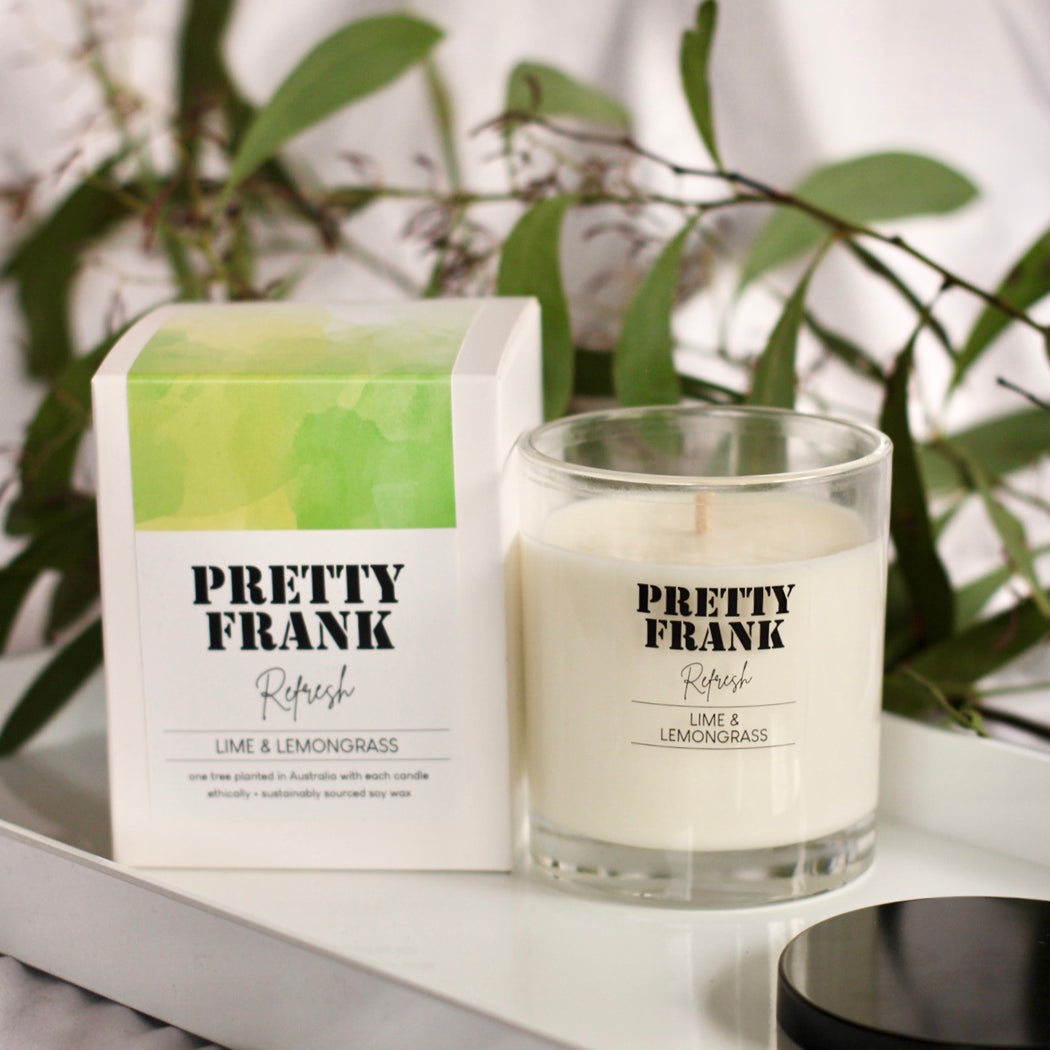 REFRESH | Lime & Lemongrass Scented Candle
