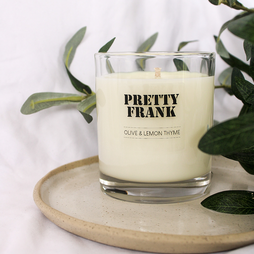 Olive & Lemon Thyme Scented Candle