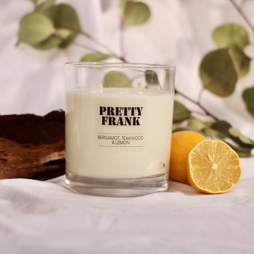 XL Double Wick Bergamot, Lemon and Teakwood Scented Candle