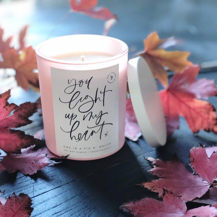 You Light Up My Heart Candle - Pretty Frank Store