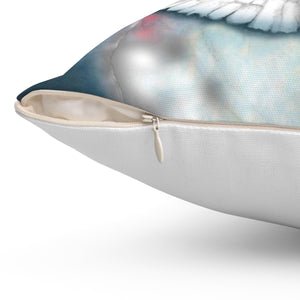 Right to the Soul (Dove): Spun Polyester Square Pillow
