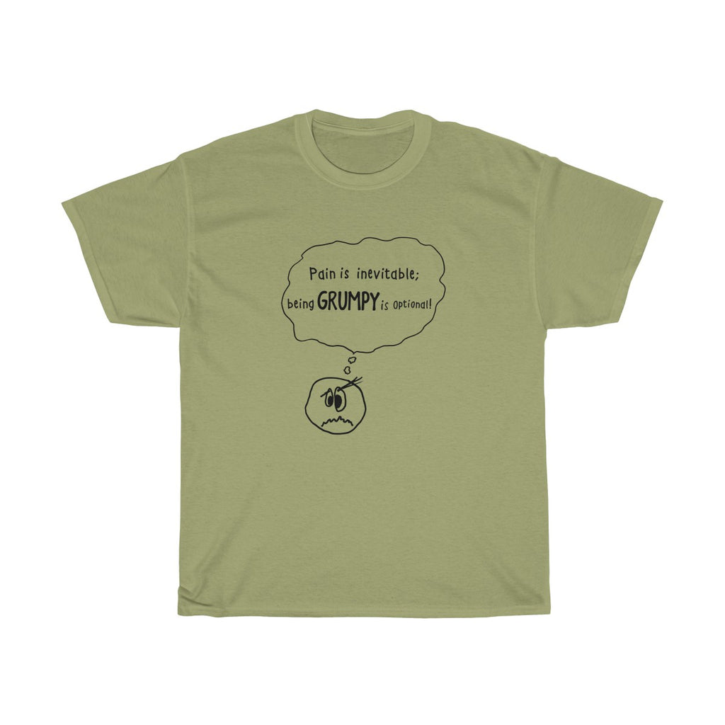 Grumpy is Optional: Men's/Unisex Heavy Cotton Tee