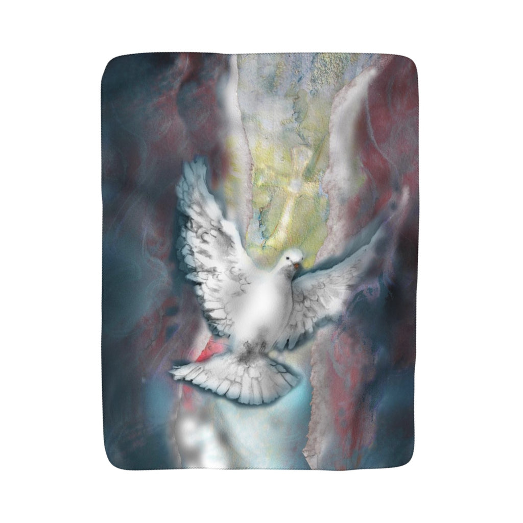 Right to the Soul (Dove): Sherpa Fleece Blanket