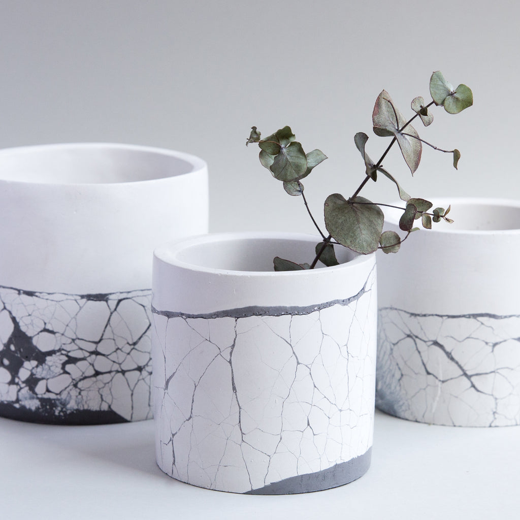 Cementify Handmade Concrete Cylinder Planter Perfect Imperfect Collection