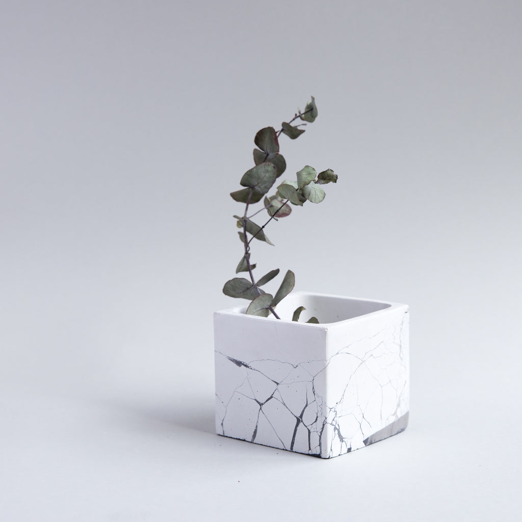 Perfect Imperfect Small Cube Concrete Planter