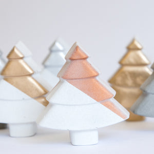 Metallic Accent Concrete Christmas Tree