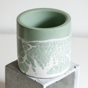 Perfect Imperfect Small Cylinder Concrete Planter