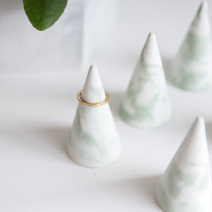 Jade Blend Concrete Ring Holder