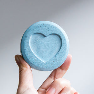 Cementify Concrete Pinga Pill Paperweight Blue Heart Ecstasy