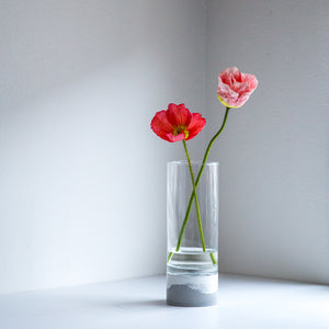Cementify concrete and glass vase