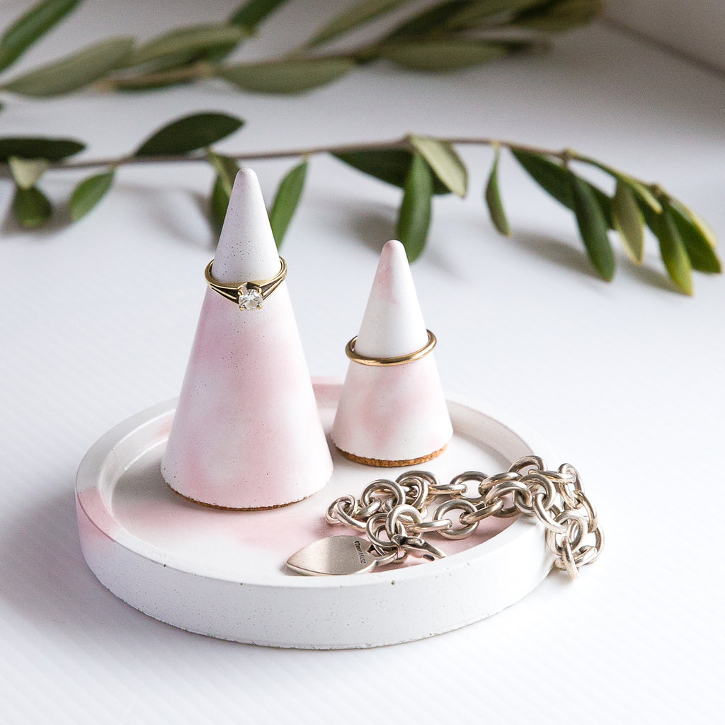Cementify Pink Blend Jewellery Holder Set