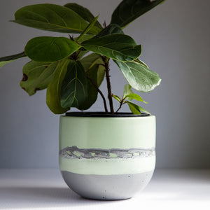 "One off Piece - Large Egg Planter 5.5""- Sage Green"