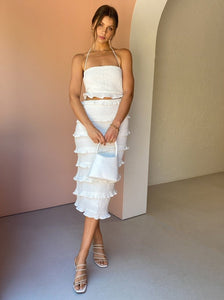 Halo Midi Dress in White - By Nicola