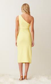 Gemma Asym Midi dress in Banana - Bec + Bridge