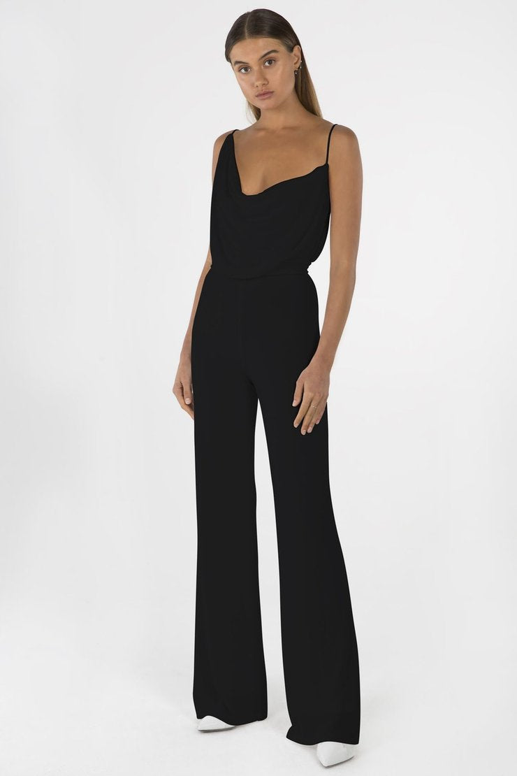 Moyra Pantsuit in Black - Misha Collection
