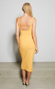 Karina Tuck Midi Dress in Tangerine - Bec + Bridge
