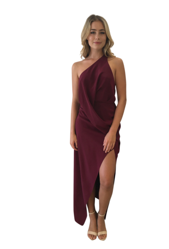 Philly Dress in Black Cherry - One Fell Swoop