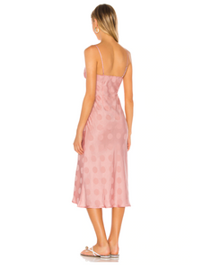 Marigold Midi Dress in Ballet Pink - Song Of Style