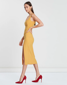 Hibiscus Island midi in Mango - Bec + Bridge
