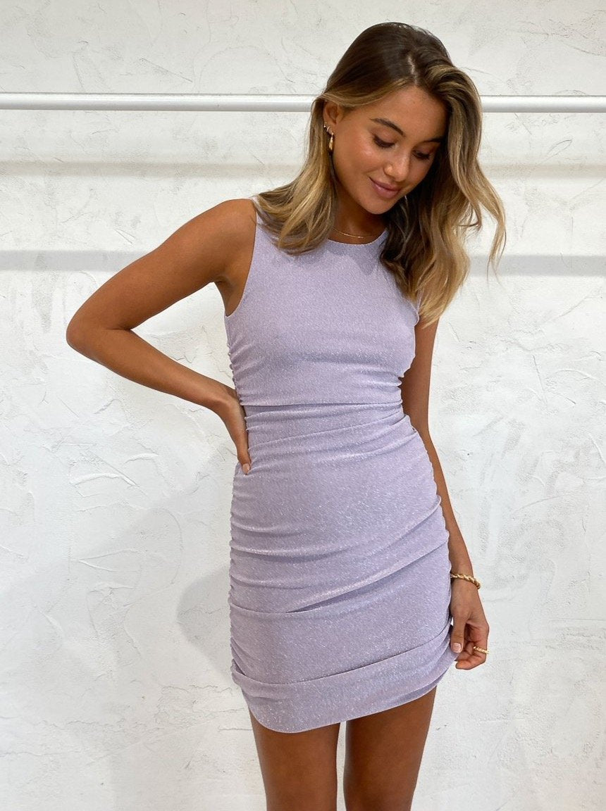 Shimmer Gather Tank in Lilac - Third Form