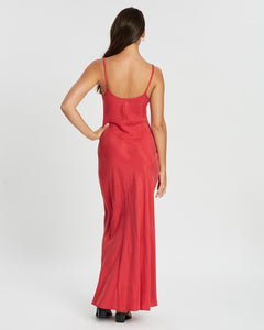 Amer Midi Slip in Red - Tigerlily