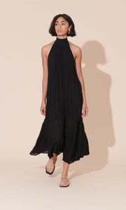 Cascade Crush Gown in Black - RUBY