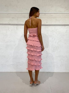 Halo Midi Dress in Melon - By Nicola