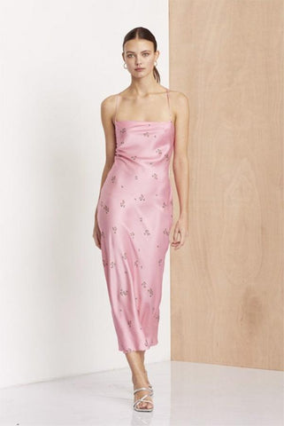 Juliet tie dress in Pink Lace - Bec + Bridge
