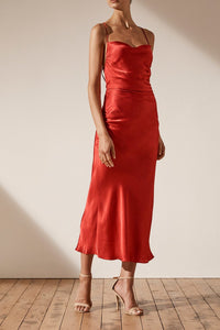 Wright Ruched Backless slip in Scarlett - Shona Joy