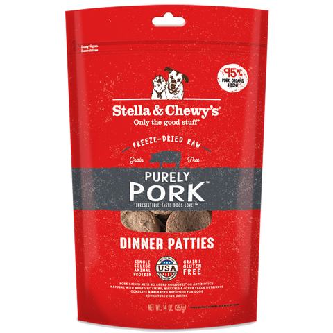 Stella and Chewy's Purely Pork Freeze-Dried Raw Dinner Patties