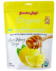 GRANDMA LUCY'S Organic Oven Baked Dog Treats: Lemon Honey (14oz)