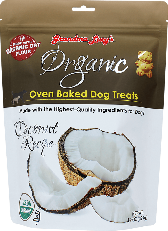 GRANDMA LUCY'S Organic Oven Baked Dog Treats: Coconut (14oz)