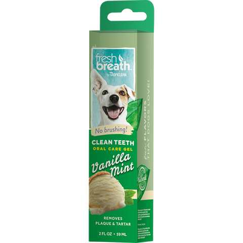 Tropiclean Oral Care Gel For Dogs With Vanilla Mint Flavoring