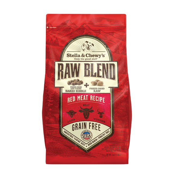 STELLA & CHEWY'S Raw Blend Kibble: Red Meat Lamb, Beef & Venison (3.5lb/22lb)