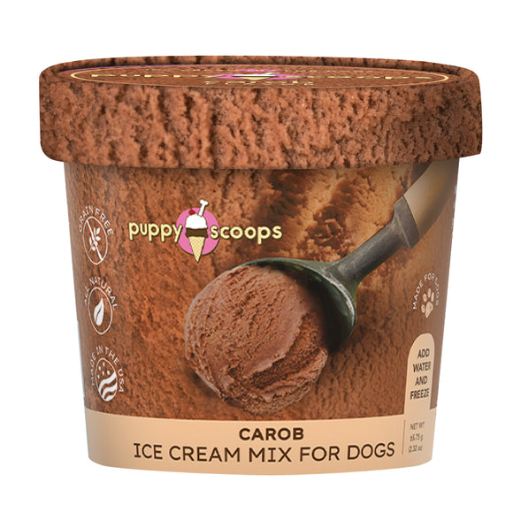 PUPPYCAKE Puppy Scoops Cow's Milk Ice Cream Mix: Carob (2.32oz/4.65oz)