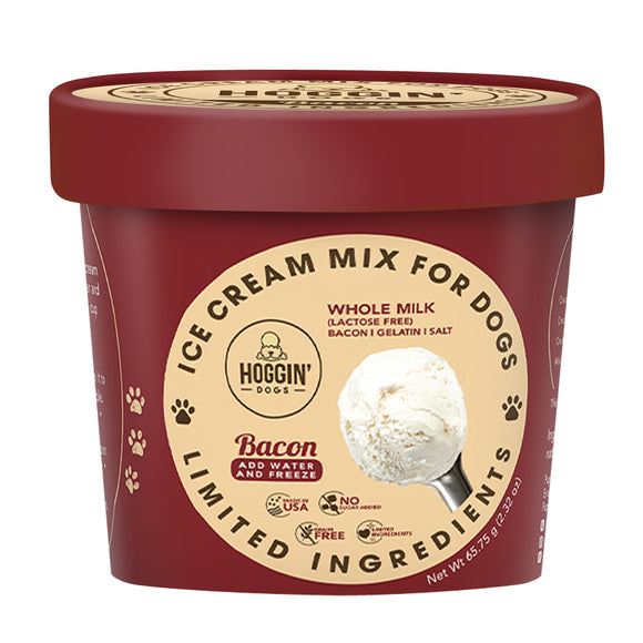 PUPPYCAKE Puppy Scoops Cow's Milk Hoggin' Dogs Ice Cream Mix: Bacon (2.32oz/4.65oz)