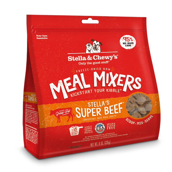 STELLA & CHEWY'S Meal Mixers: Super Beef (8oz/18oz)