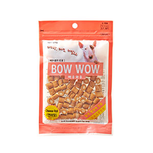 BOWWOW Cheese Treats: Cheese + Salmon Roll (120g)