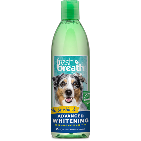 Tropiclean Fresh Breathe Advanced Whitening Oral Care Water Additive
