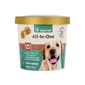 NATURVET Soft Chews: All-In-One 4-IN-1 Support (60ct - 30 Day Supply)