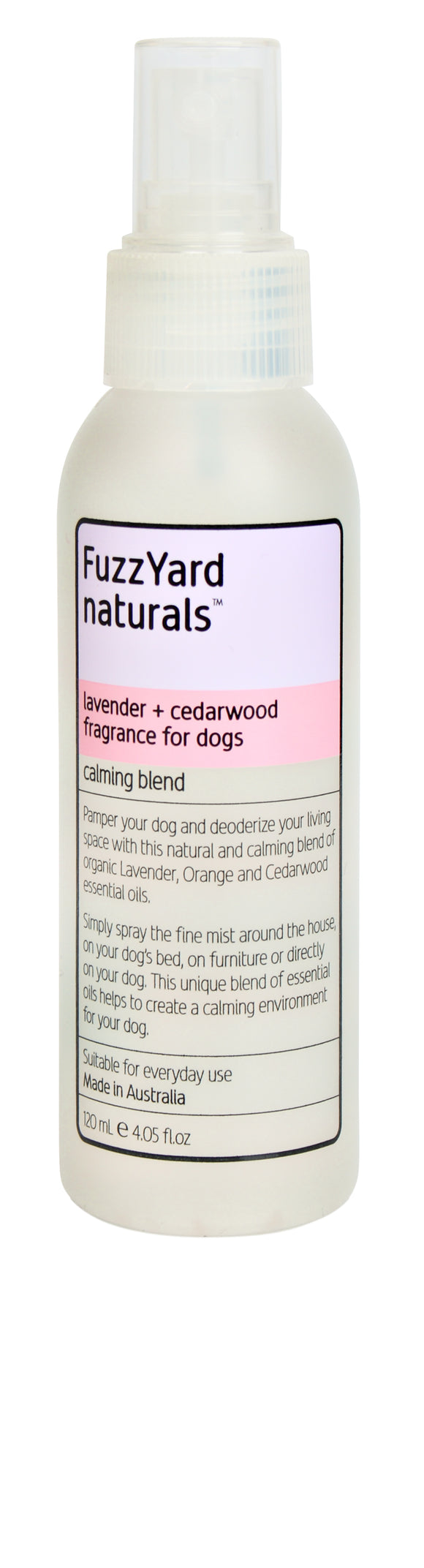 FUZZYARD Lavender + Cedarwood Calming Spray (120ml)