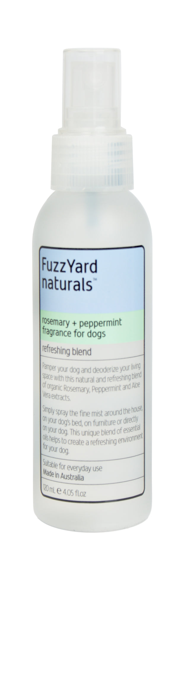 FUZZYARD Rosemary + Peppermint Refreshing Spray (120ml)