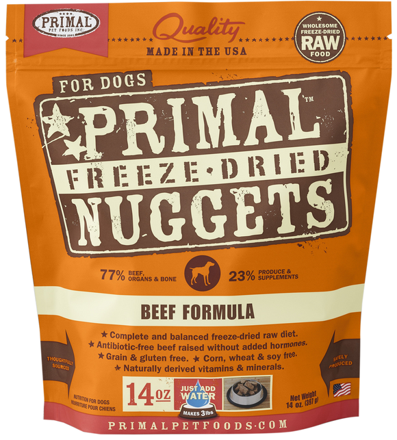 *PROMO* PRIMAL Freeze-Dried Grain-Free: Beef Formula (4 Packs x 14oz)