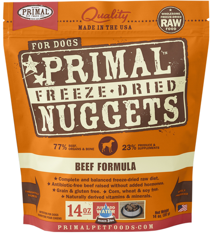 BUNDLE DEAL: Primal Freeze-Dried Grain-Free Beef Formula Dog Food