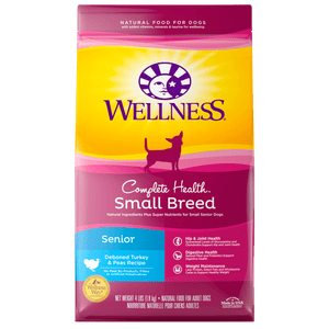 WELLNESS Complete Health Dry Food: Small Breed Senior Turkey & Peas (4lb)
