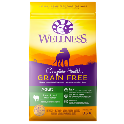 WELLNESS Complete Health Grain-Free: Lamb & Lamb Meal (Adult)